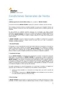 Condiciones Generales de Venta