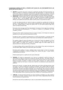 CONDICIONES GENERALES PARA LA RESERVA DE PLAZAS DE LOS APARCAMIENTOS DE LOS AEROPUERTOS DE AENA S.A