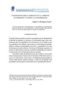 CONDICIONES PARA EL EJERCICIO DE LA LIBERTAD