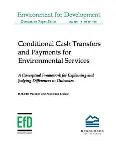 Conditional Cash Transfers and Payments for Environmental Services