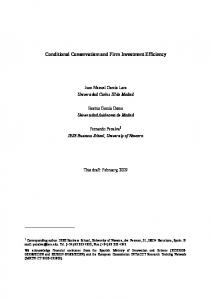 Conditional Conservatism and Firm Investment Efficiency