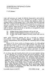 CONDITIONAL INTERPRETATIONS OF IF-SENTENCES