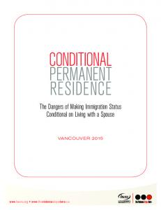 CONDITIONAL PERMANENT RESIDENCE