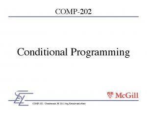 Conditional Programming