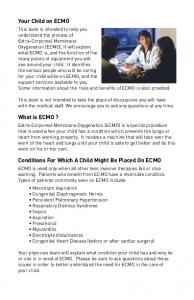 Conditions For Which A Child Might Be Placed On ECMO