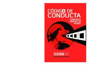 CONDUCTA CONDUCTA COMISIONES OBRERAS DE MADRID COMISIONES OBRERAS DE MADRID