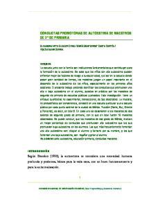 CONDUCTAS PROMOTORAS DE AUTOESTIMA DE MAESTROS DE 2 DE PRIMARIA