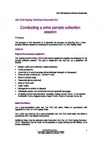 Conducting a urine sample collection session