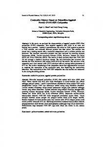 Conductive Polymer Based on Polyaniline-Eggshell Powder (PANI-ESP) Composites