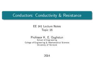 Conductors: Conductivity & Resistance