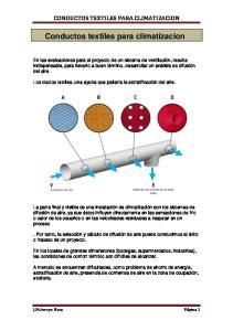 Conductos textiles para climatizacion