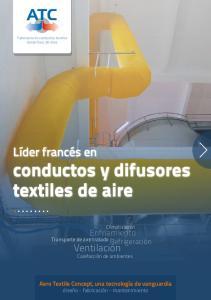 conductos y difusores textiles de aire