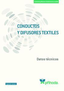 CONDUCTOS Y DIFUSORES TEXTILES