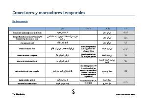 Conectores y marcadores temporales