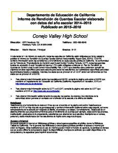 Conejo Valley High School
