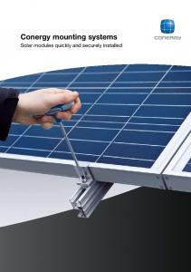 Conergy mounting systems. Solar modules quickly and securely installed