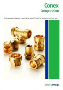 Conex. Compression. Compression system technical specifications and product range