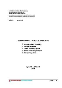 CONEXI ONES DE LAS PIEZAS DE MADERA