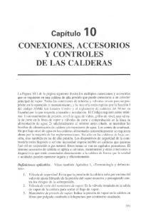 CONEXIONES, ACCESORIOS Y CONTROLES DE LAS CALDERAS