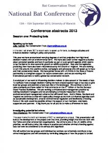 Conference abstracts 2013
