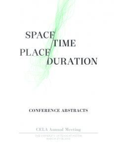 CONFERENCE ABSTRACTS CELA