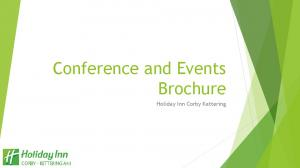 Conference and Events Brochure. Holiday Inn Corby Kettering
