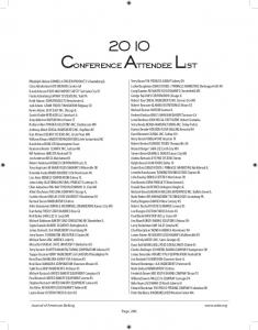 Conference Attendee List