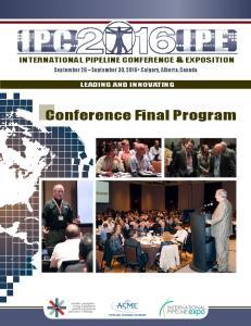 Conference Final Program