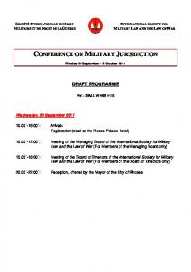 CONFERENCE ON MILITARY JURISDICTION