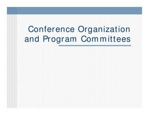 Conference Organization and Program Committees