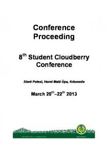 Conference Proceeding
