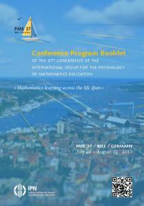 Conference Program Booklet