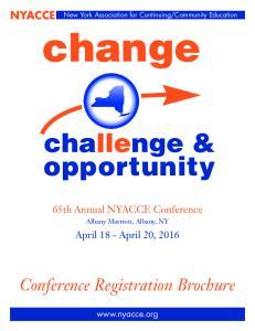 Conference Registration Brochure