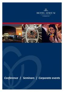 Conference Seminars Corporate events