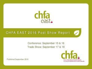 Conference: September 15 & 16 Trade Show: September 17 & 18