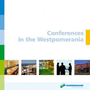 Conferences in the Westpomerania
