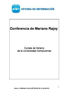 Conferencia de Mariano Rajoy