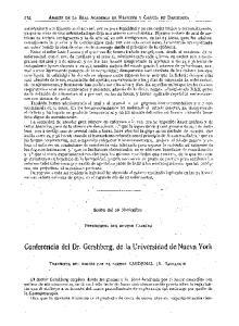 Conferencia del Dr. Gershberg, de la Universidad de Nueva York