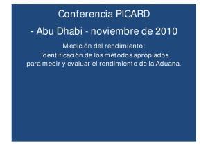 Conferencia PICARD Abu Dhabi - noviembre de 2010