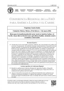 CONFERENCIA REGIONAL DE LA FAO