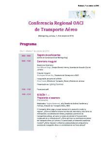 Conferencia Regional OACI de Transporte Ae reo