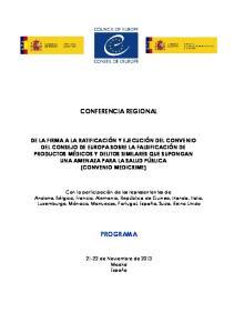 CONFERENCIA REGIONAL PROGRAMA