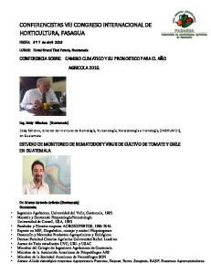 CONFERENCISTAS VIII CONGRESO INTERNACIONAL DE HORTICULTURA, FASAGUA