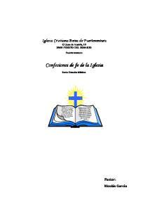 Confesiones de fe de la Iglesia