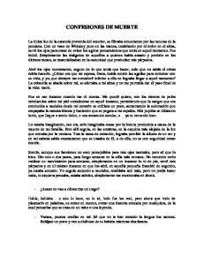 CONFESIONES DE MUERTE