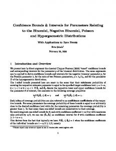 Confidence Bounds & Intervals for Parameters Relating to the Binomial, Negative Binomial, Poisson and Hypergeometric Distributions