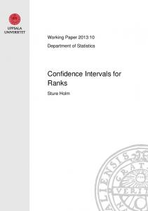 Confidence Intervals for Ranks