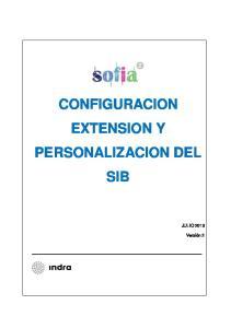 CONFIGURACION EXTENSION Y PERSONALIZACION DEL SIB