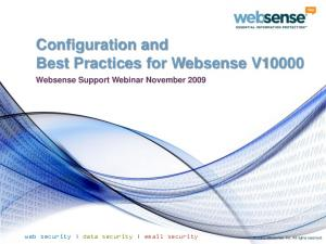 Configuration and Best Practices for Websense V10000