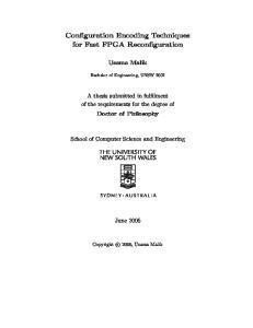 Configuration Encoding Techniques for Fast FPGA Reconfiguration